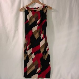 Form fitting patterned dress